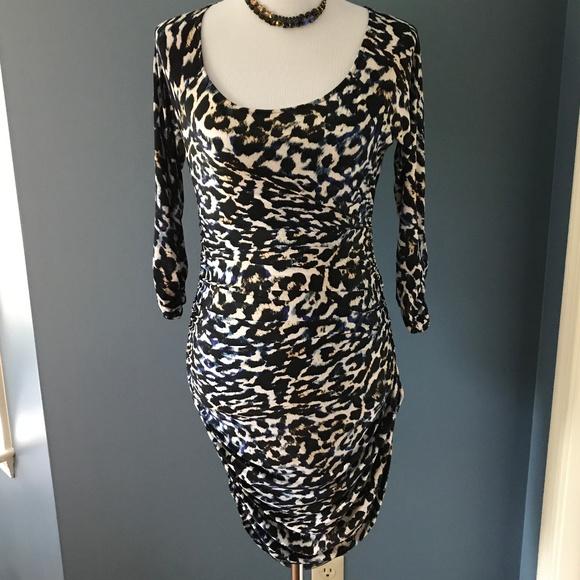 NWT Guess Josie Indigo Leopard Print Dress M fe8bb9e64